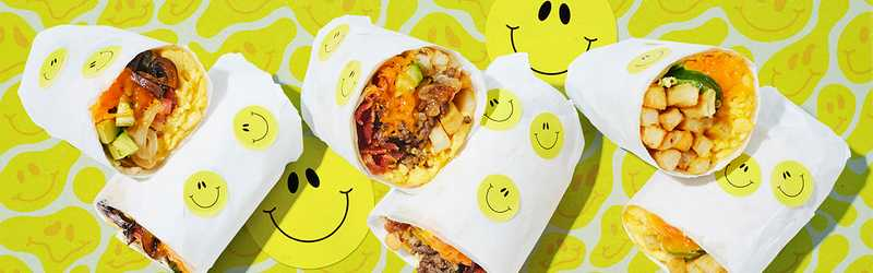 Big Smiley's Breakfast Burritos